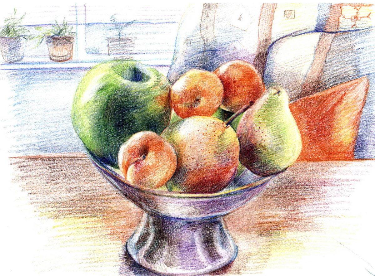 детей картинки для рисования натюрморта из фруктов отличие других стран