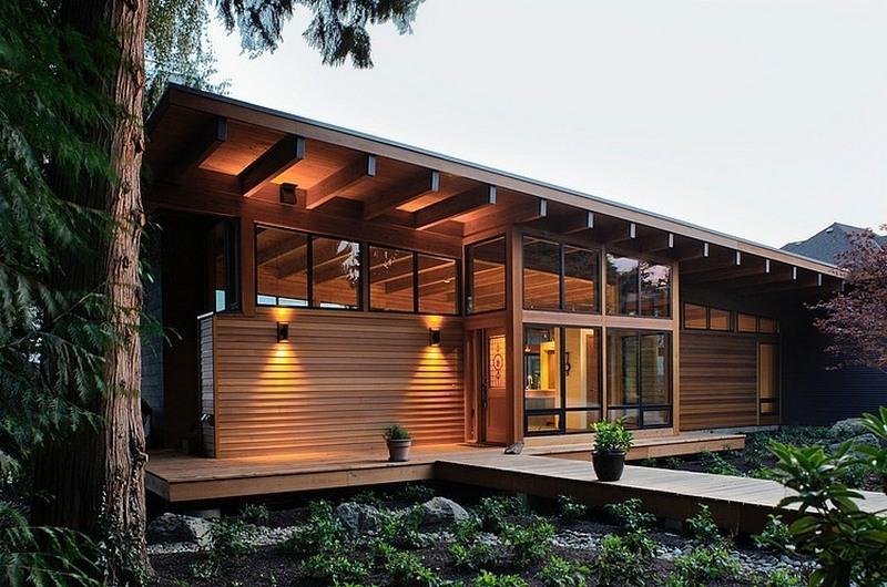 деревянные дома современные фото