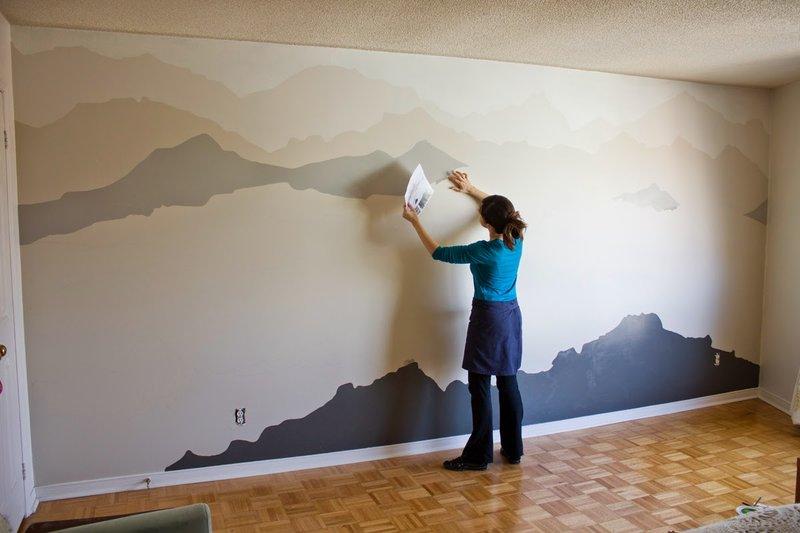 Покраска стен фото в несколько цветов