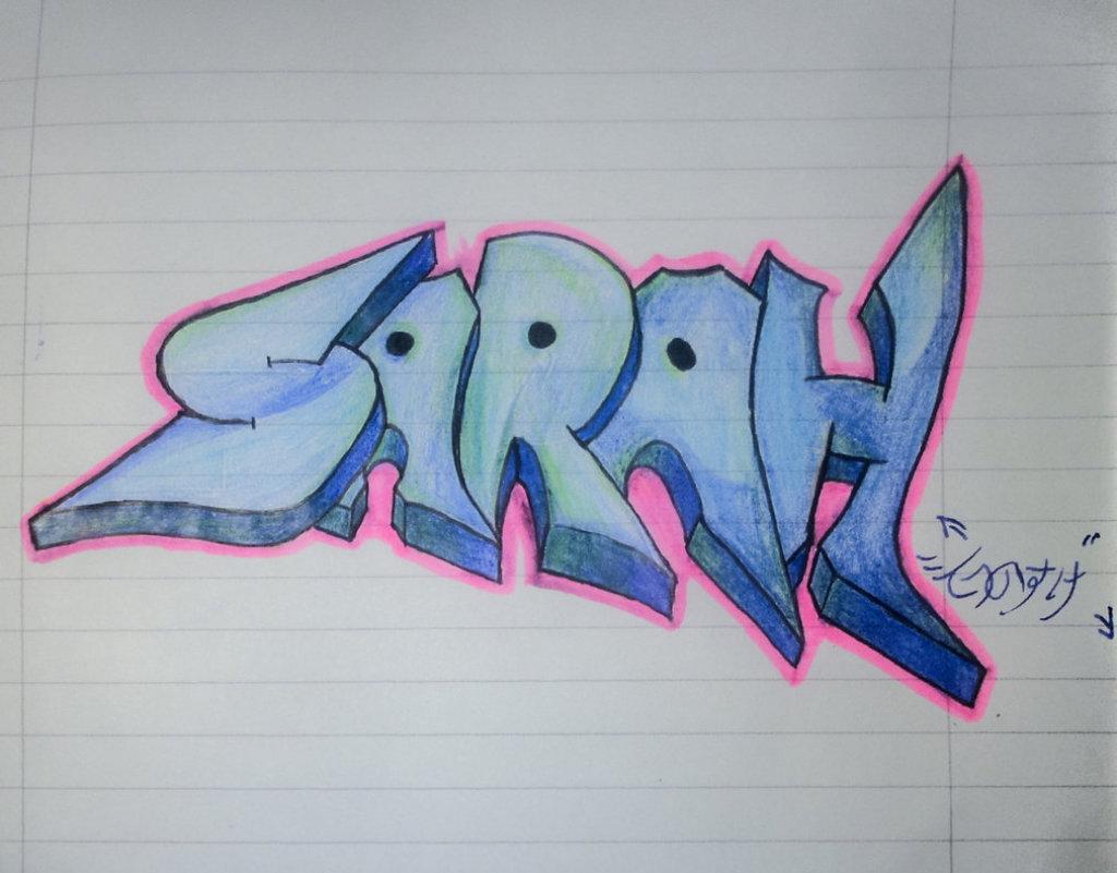 Рисуем граффити на бумаге картинки