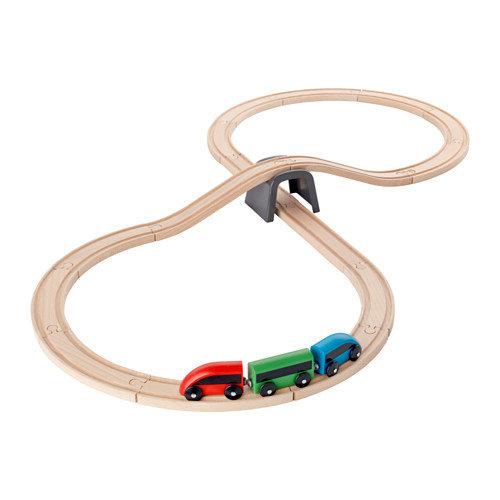 ЛИЛЛАБУ, Железная дорога, набор, 20 предметов. Подходит к большинству продаваемых детских железных дорог. Развивает воображение, мелкую моторику и логическое мышление.