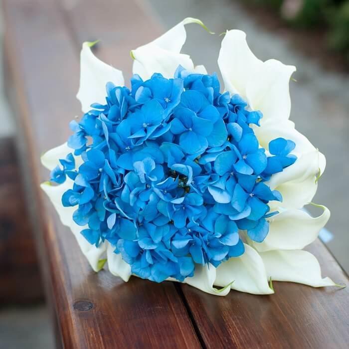 Голубые калл в свадебный букет цена