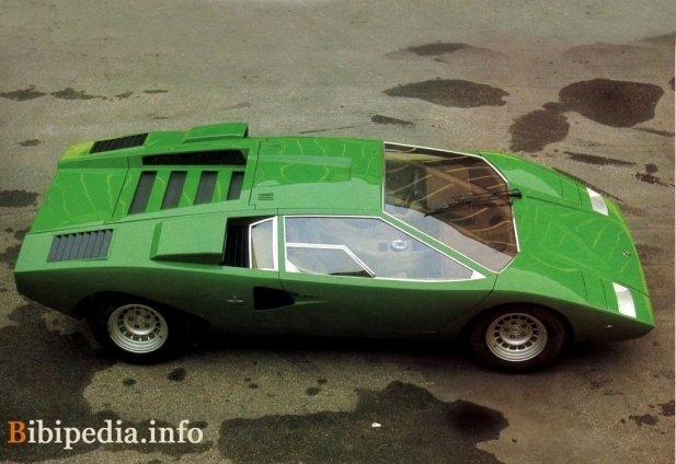 Фото Lamborghini Countach lp 400 1973 - 1981 — зеленый\