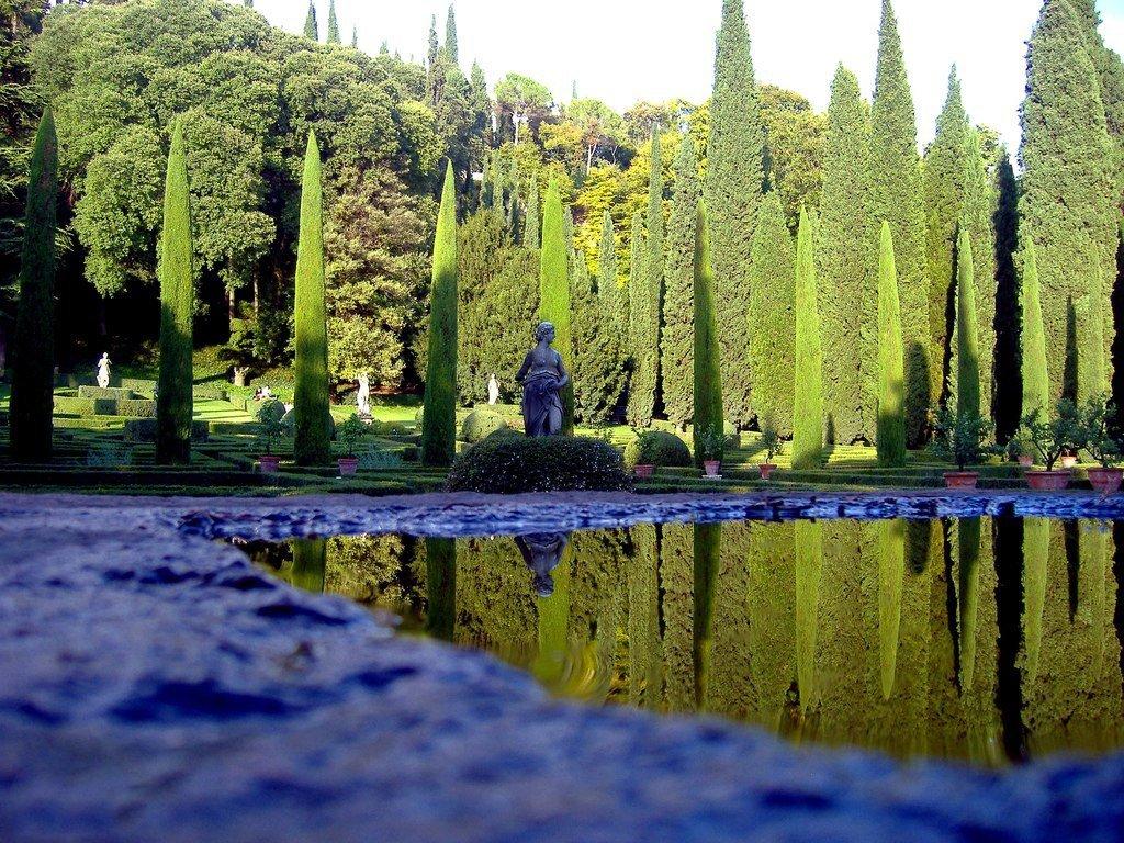 Парк Джусти giardini giusti Верона Италия Размышляйте