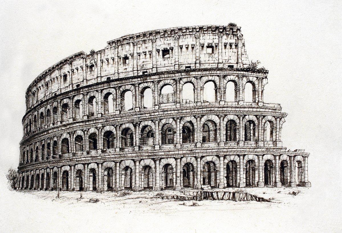 Рим черно-белая картинка кулинарные