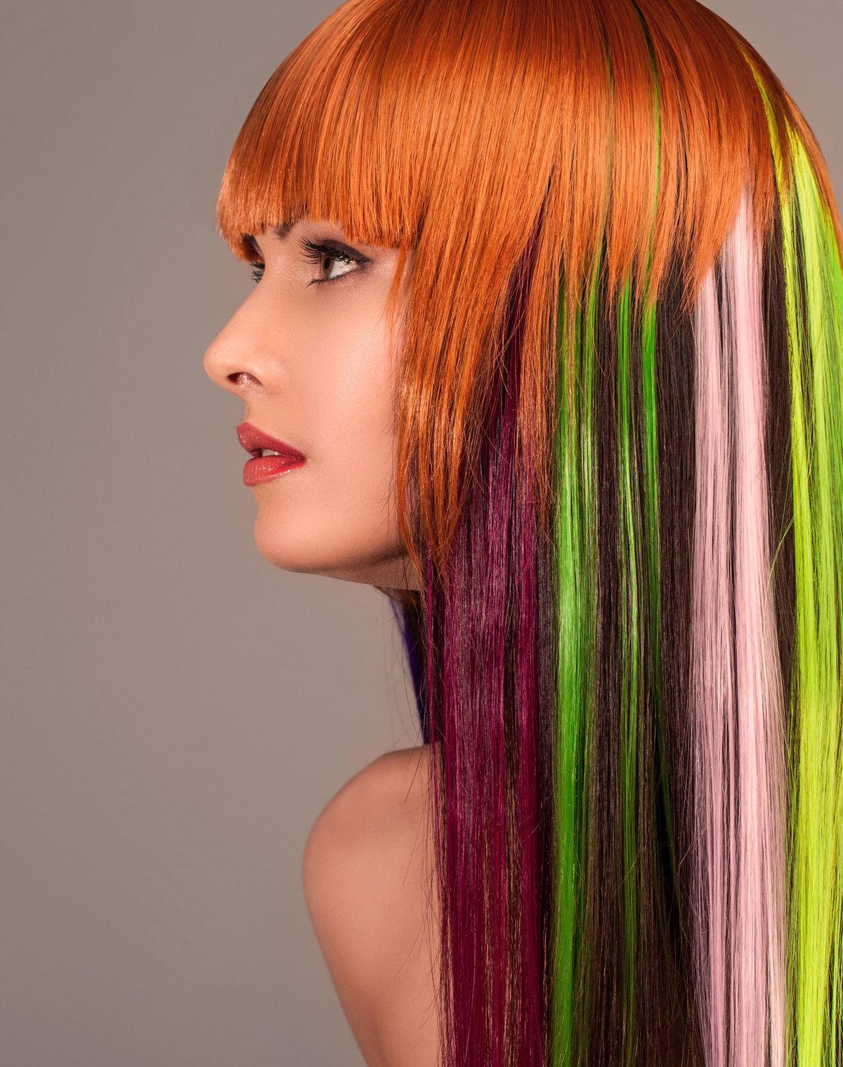 Как сделать цветные пряди волос фото 178