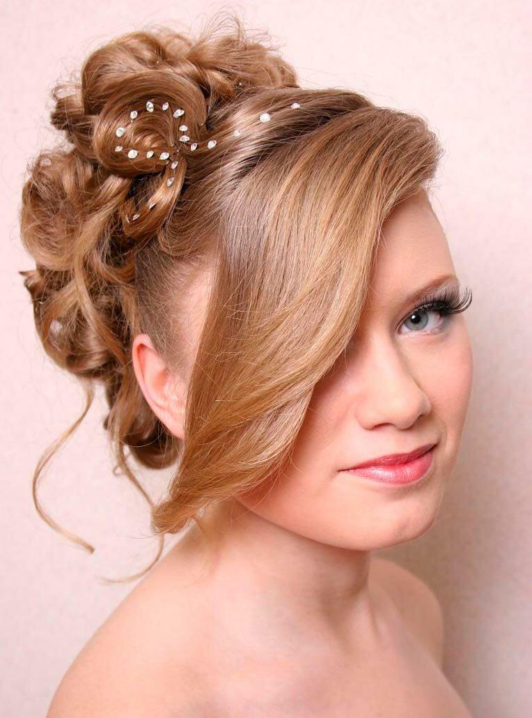 прическа свадебная на средние волосы фото 2017