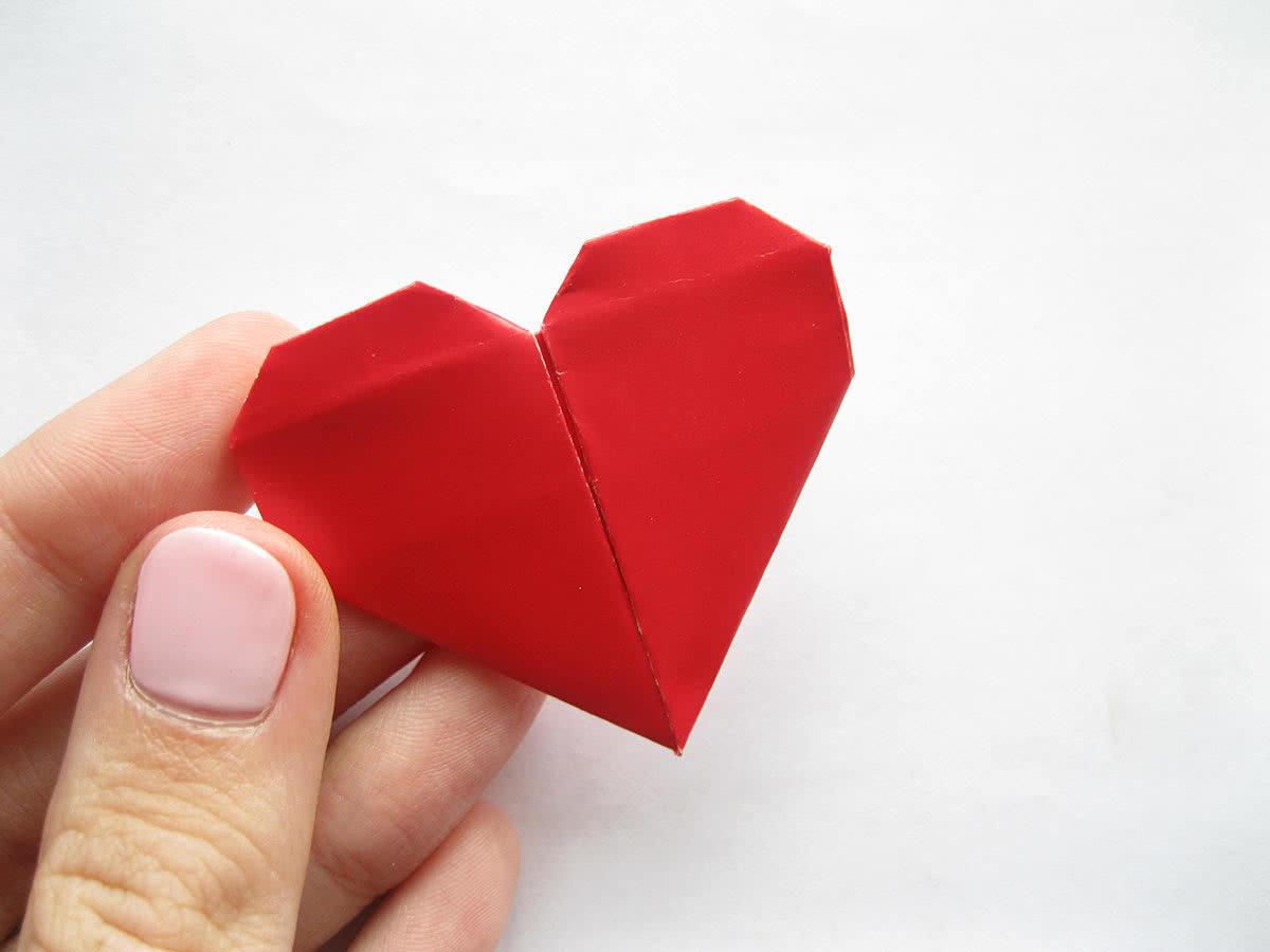 Оригами сердце для открыток