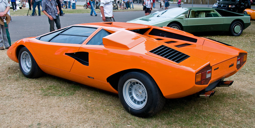 Quot 1974 1978 Lamborghini Countach Lp400 оранжевая Quot Card