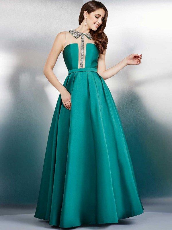 Платье пышное длинное в пол