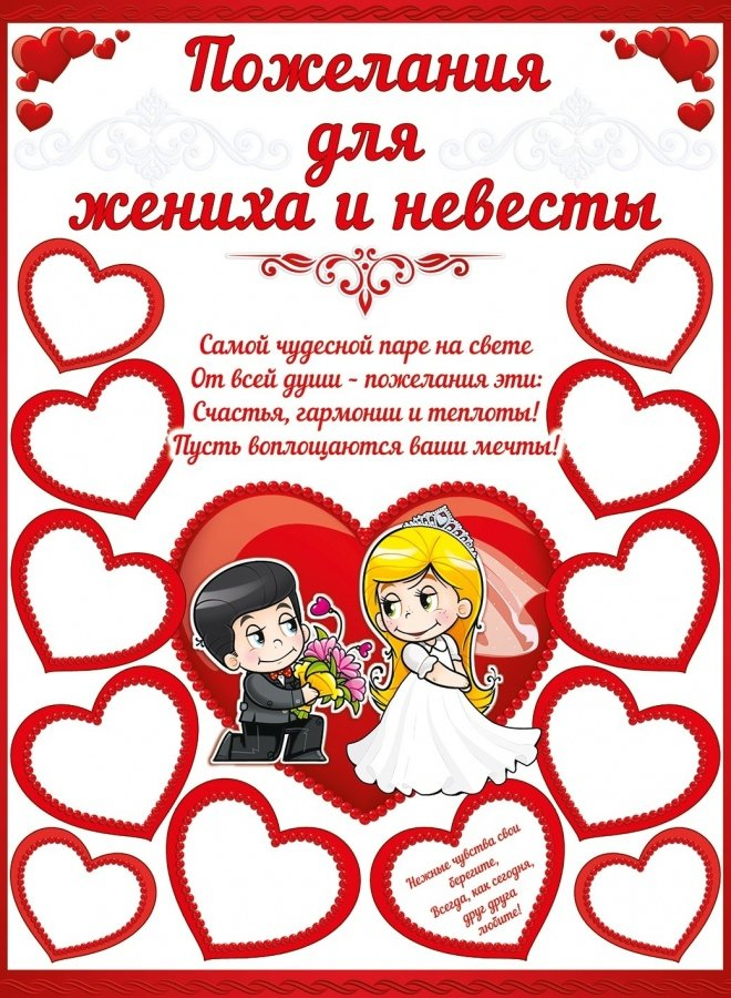 Поздравления на свадьба жениха и невеста