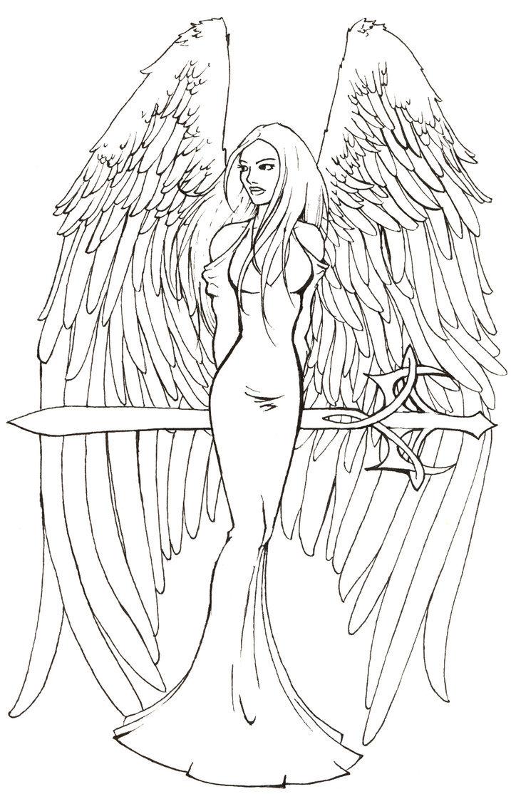 Картинки про ангелов нарисованные