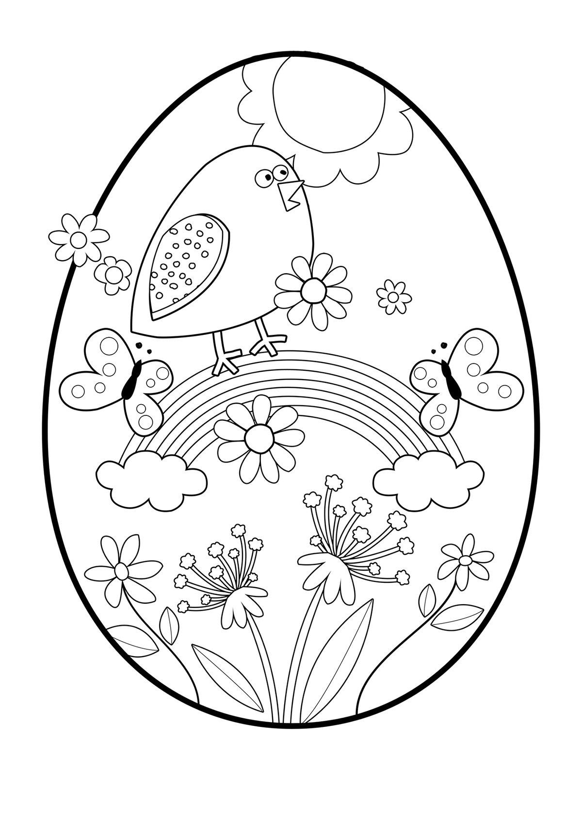 День, картинки пасхальных яиц раскраски