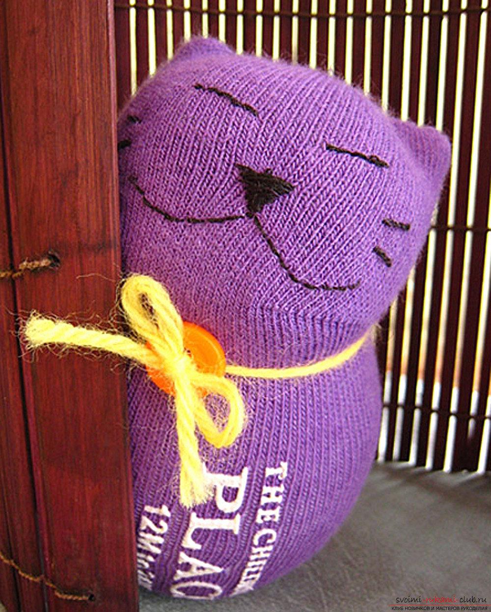 Игрушки для котов своими руками из носков фото 946