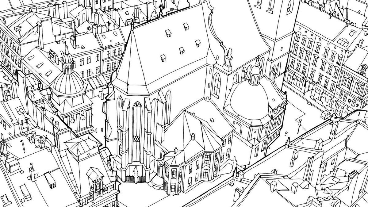 Как сделать из картинку раскраску архитектура