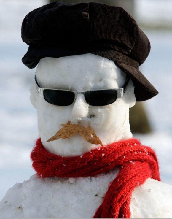 Днем рождения, картинка снеговик смешные