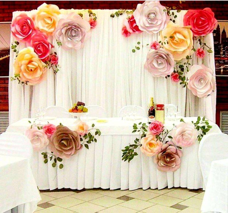 картинки украшения зала бумажными цветами отварной свининой
