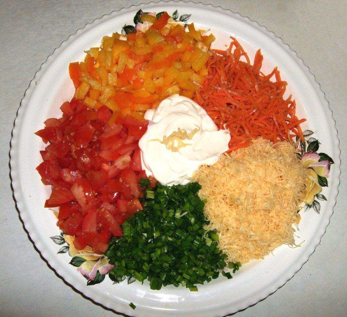 салат горками рецепт с фото пошагово медаль