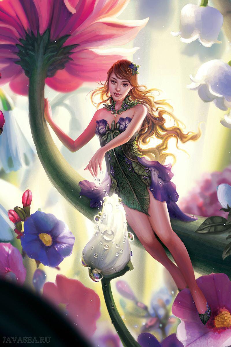 На аромат цветов прилетают эльфы