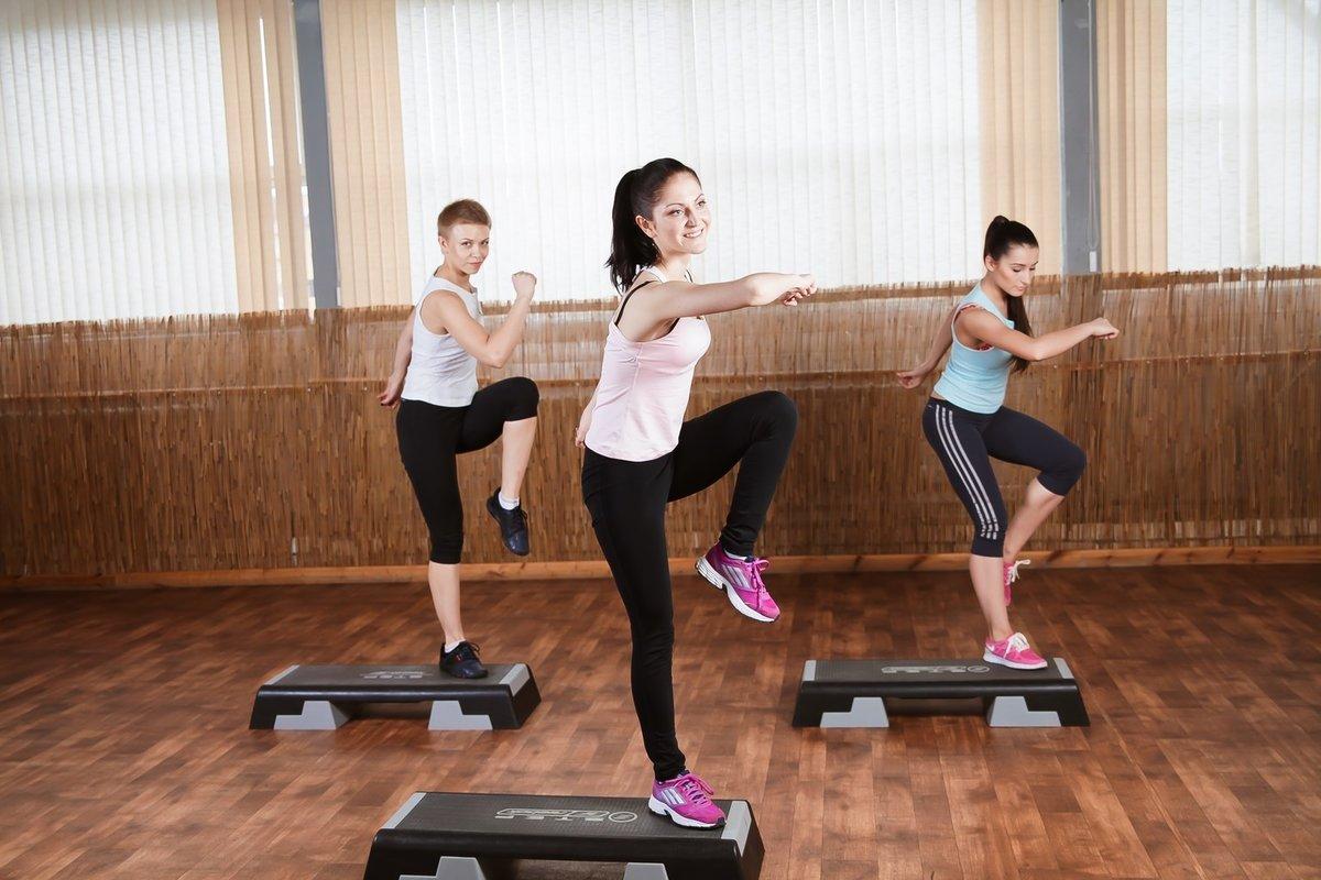 степ упражнения в картинках для
