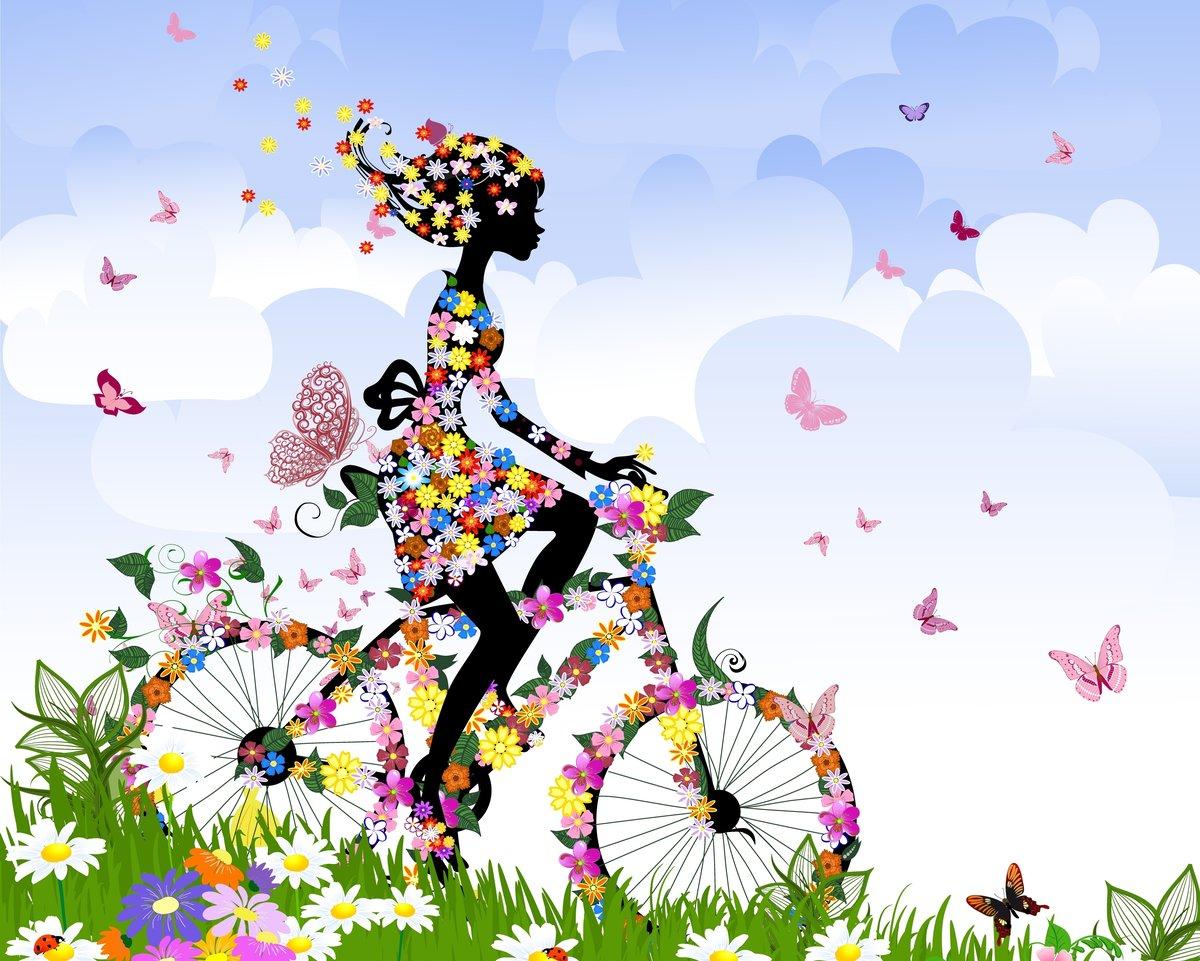 Креативная открытка с цветами
