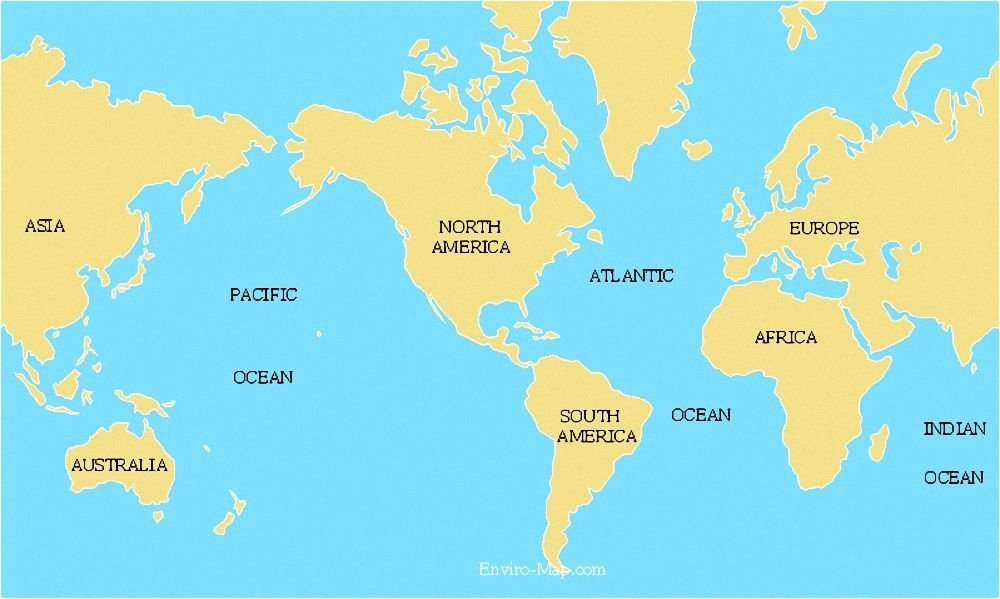 Improve your social studies knowledge with free questions in Name oceans and continents and thousands of other social studies skills