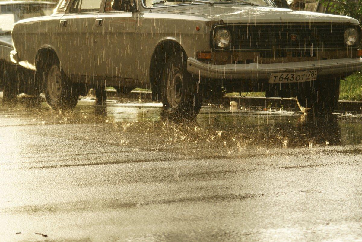 Картинки машин под дождем