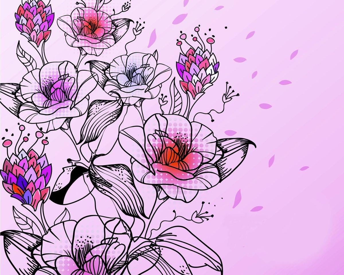 Фотошопе картинки, картинки цветов красивые нарисованные