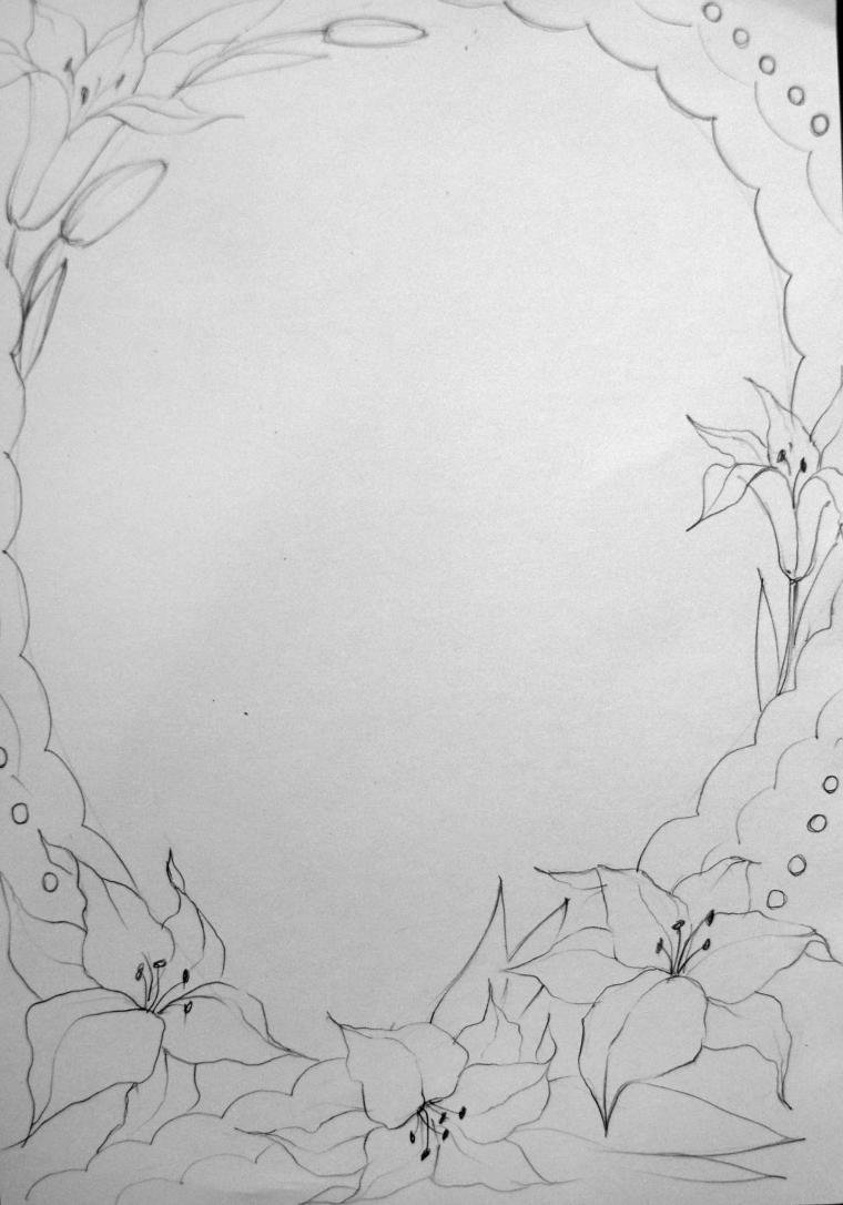 Цветы для открыток карандашом