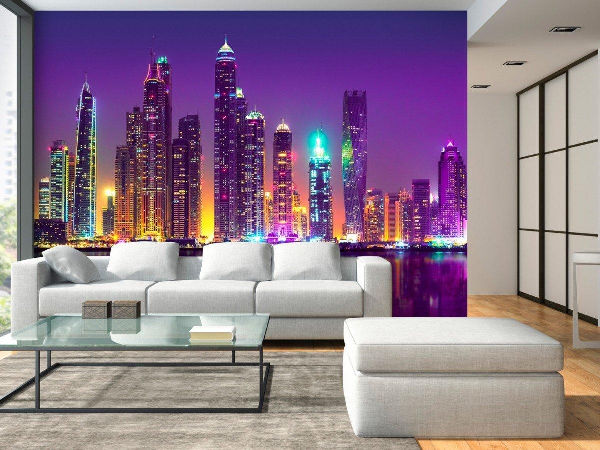 солнечный обои в зал с картинкой города мне взгляды