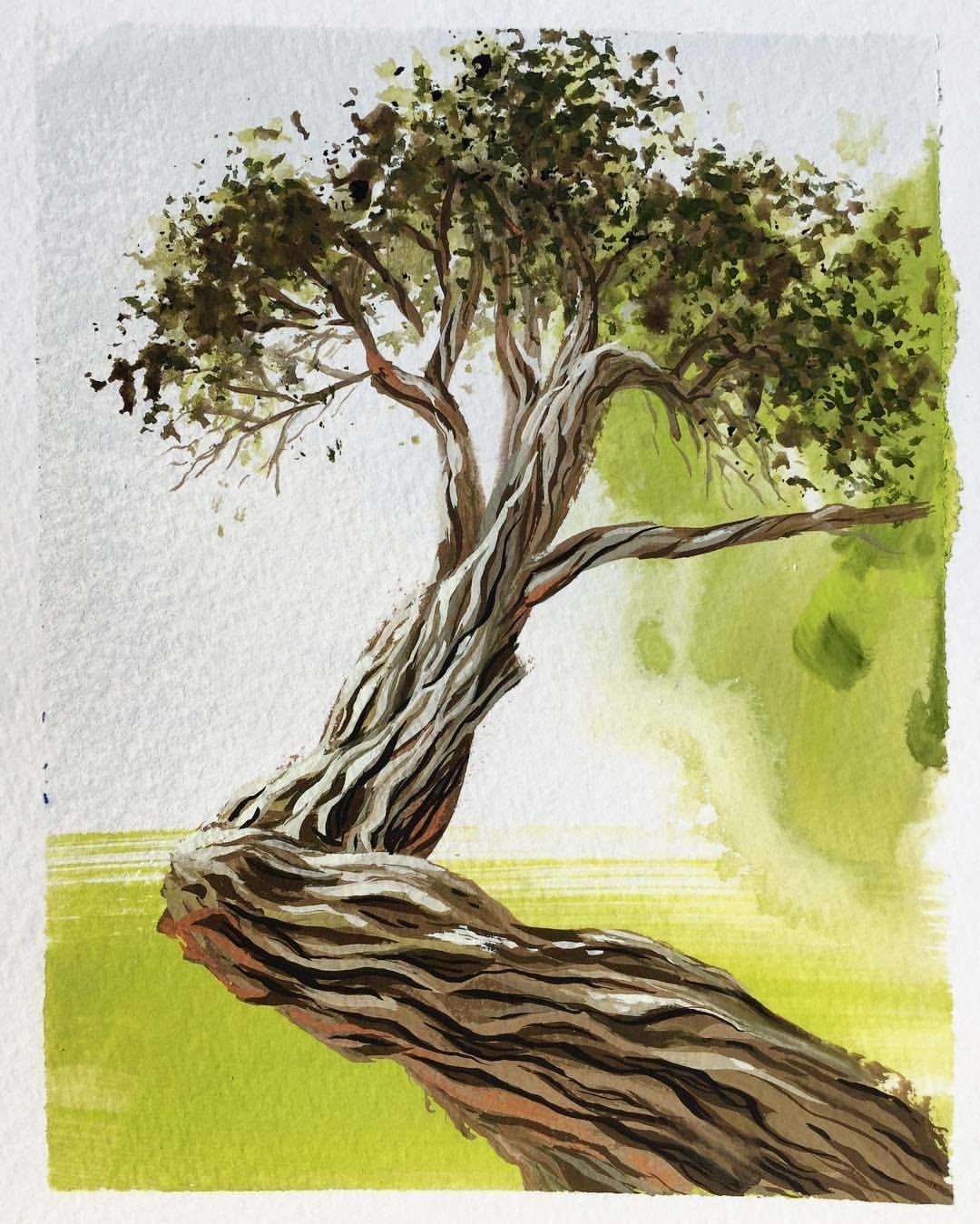 Деревья картинки красивые нарисованные