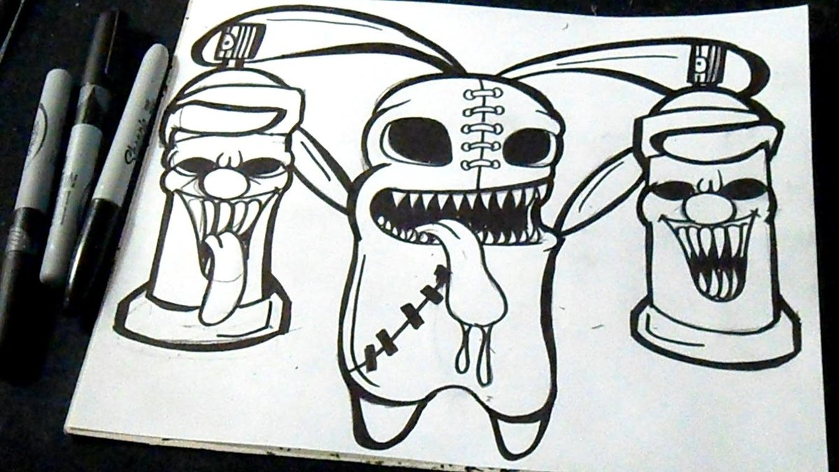 Финскими, граффити на бумаге прикольные картинки