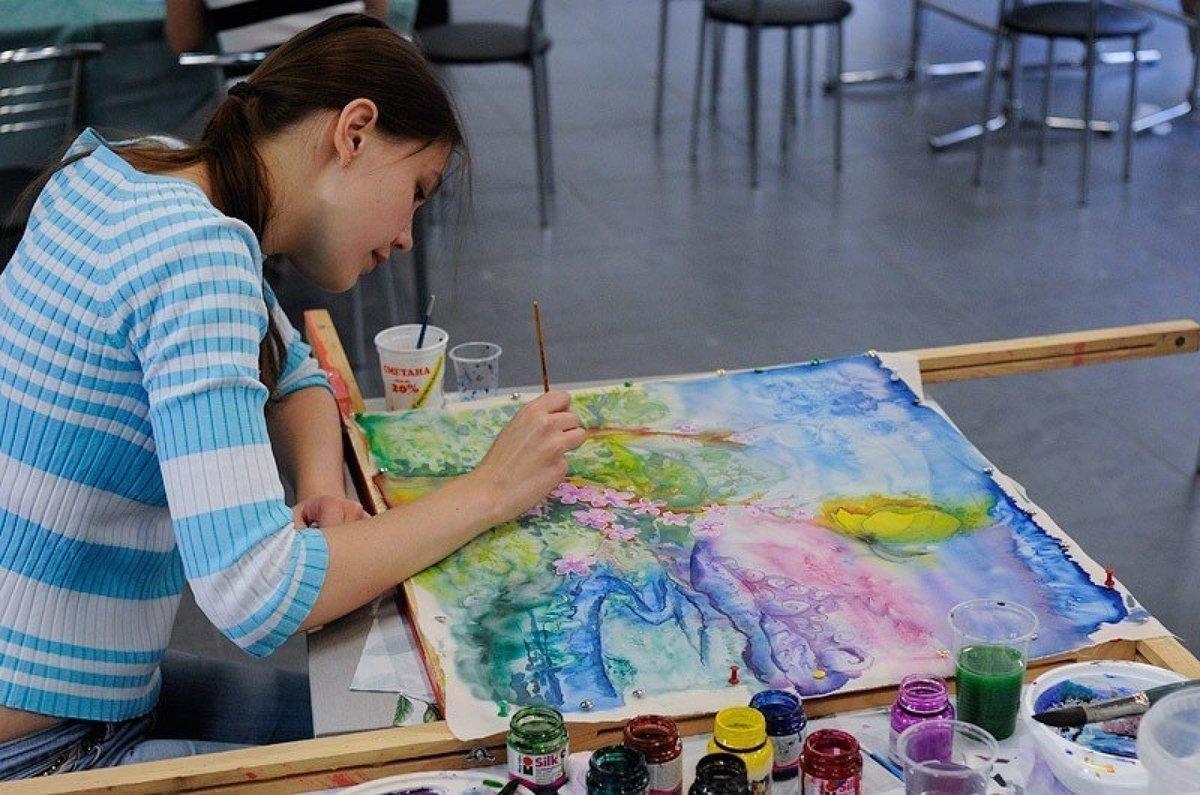 Картинка процесс рисования
