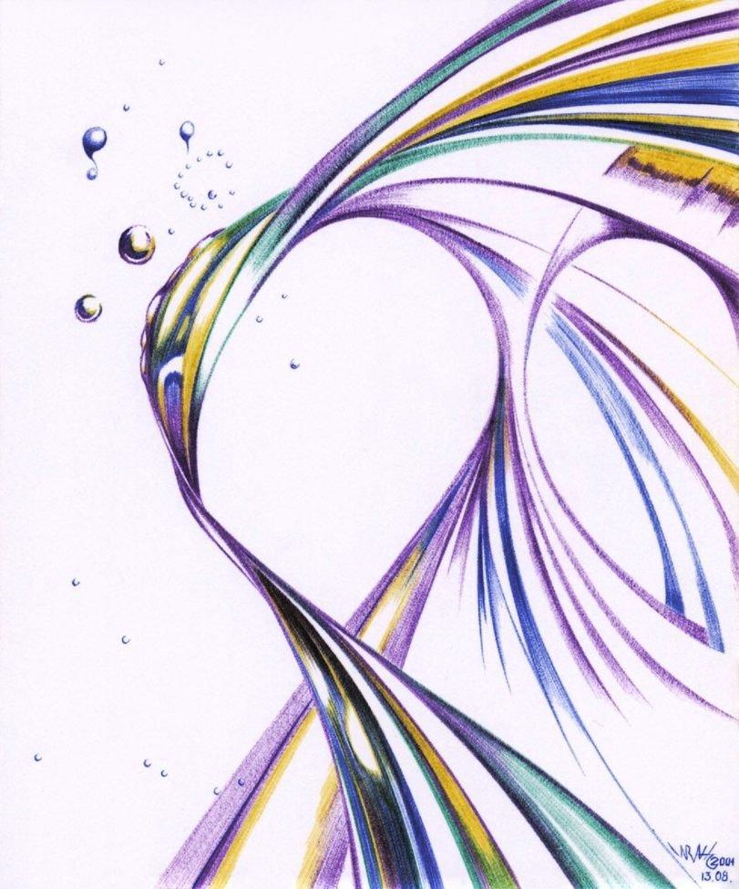 Картинки карандашом абстракции