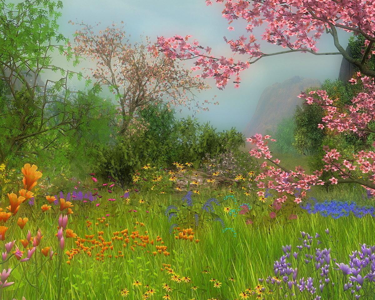 Привет лета, открытки с пейзажами весенние