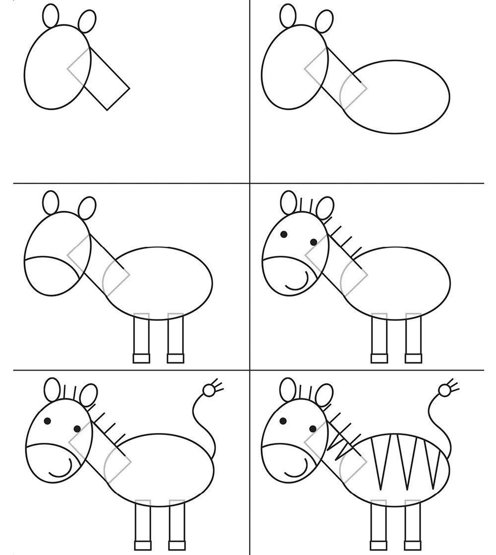 Картинки для детей рисовать легко