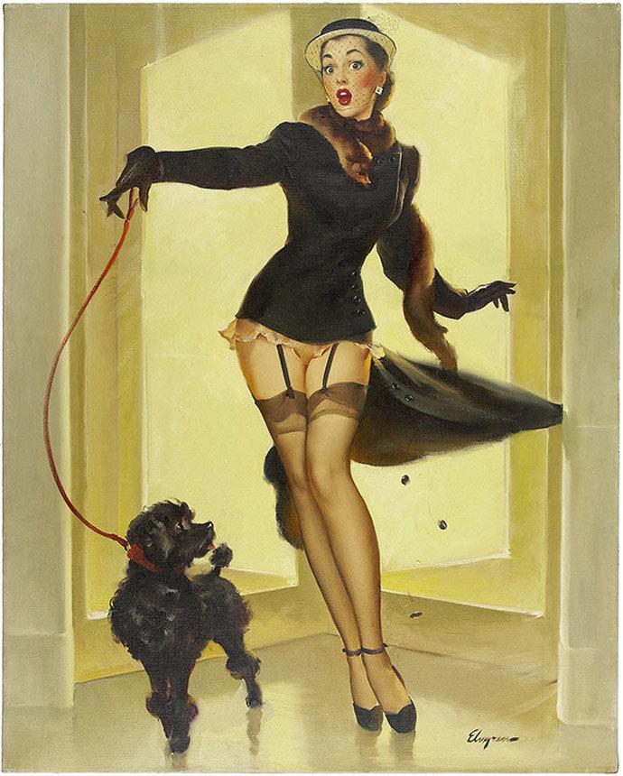 Прикольные картинки женщина с собакой