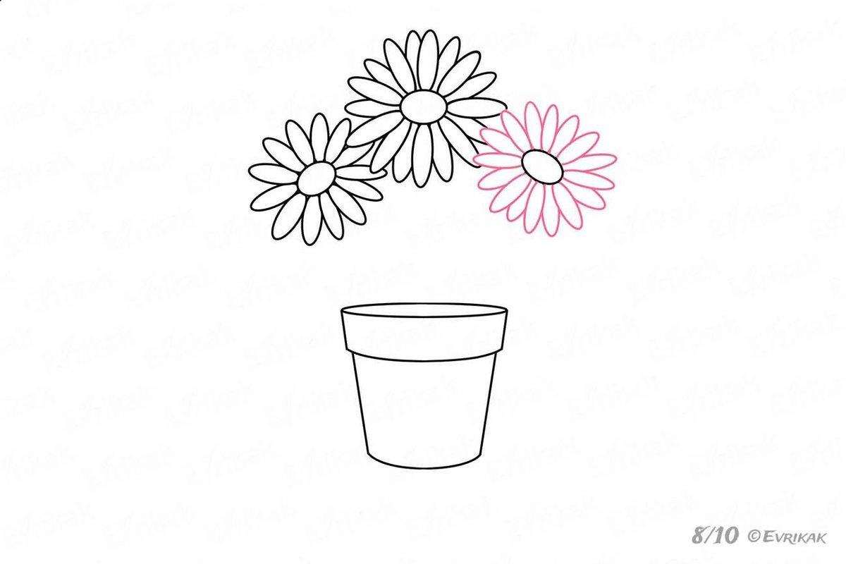 Картинки аппликации цветы в стакане простым карандашом, поздравлением марта женщинам