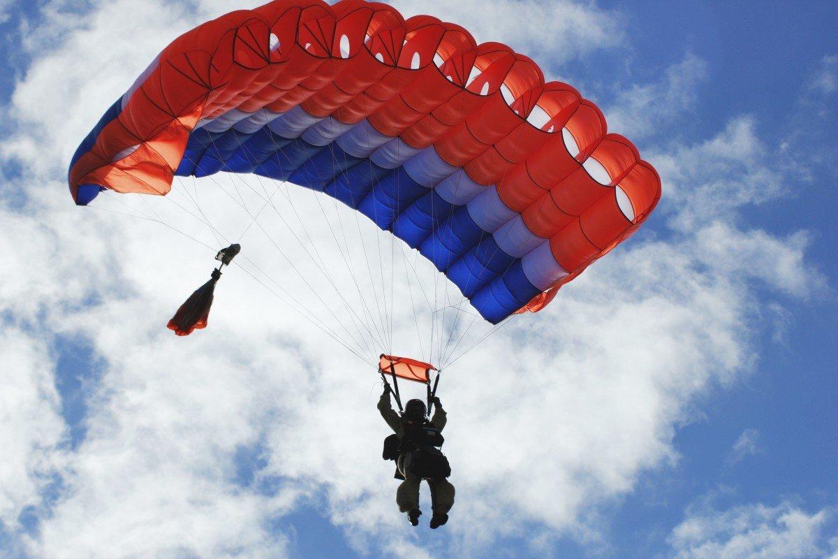 Картинка прыжок с парашютом, красивые