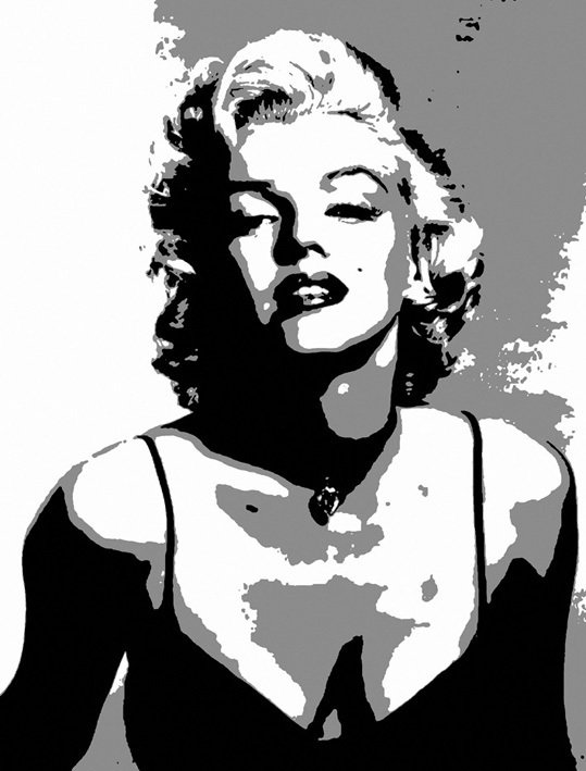 Картинки мэрилин монро черно белые