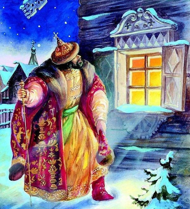 Новогодние картинки из сказок пушкина, поздравления