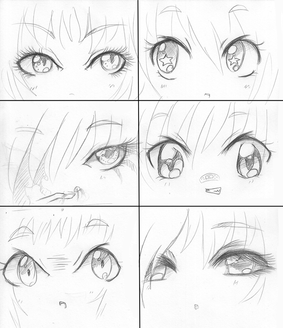 Anime Faces Drawing 9 How To Draw Anime Faces Drawing Mang Card