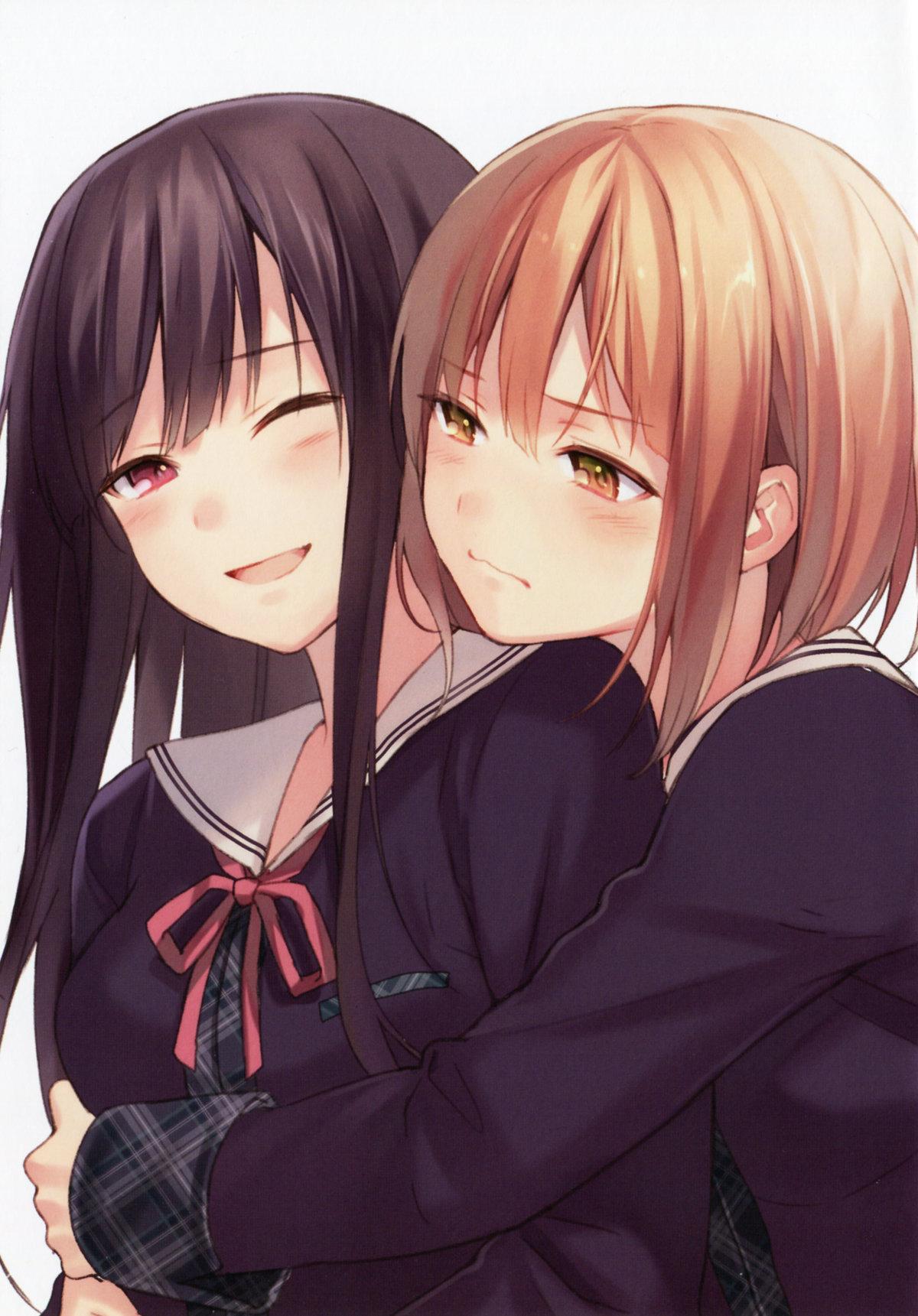 Картинки две подружки аниме