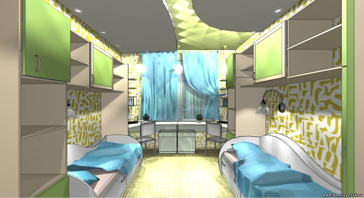 интерьер детской комнаты детская комната для двоих детей в