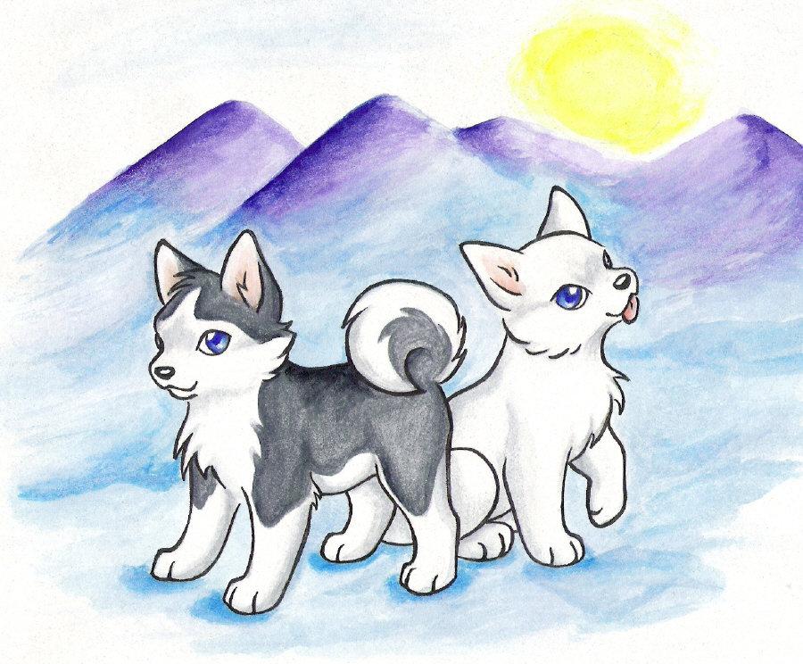 Картинки для срисовки собаки и волки
