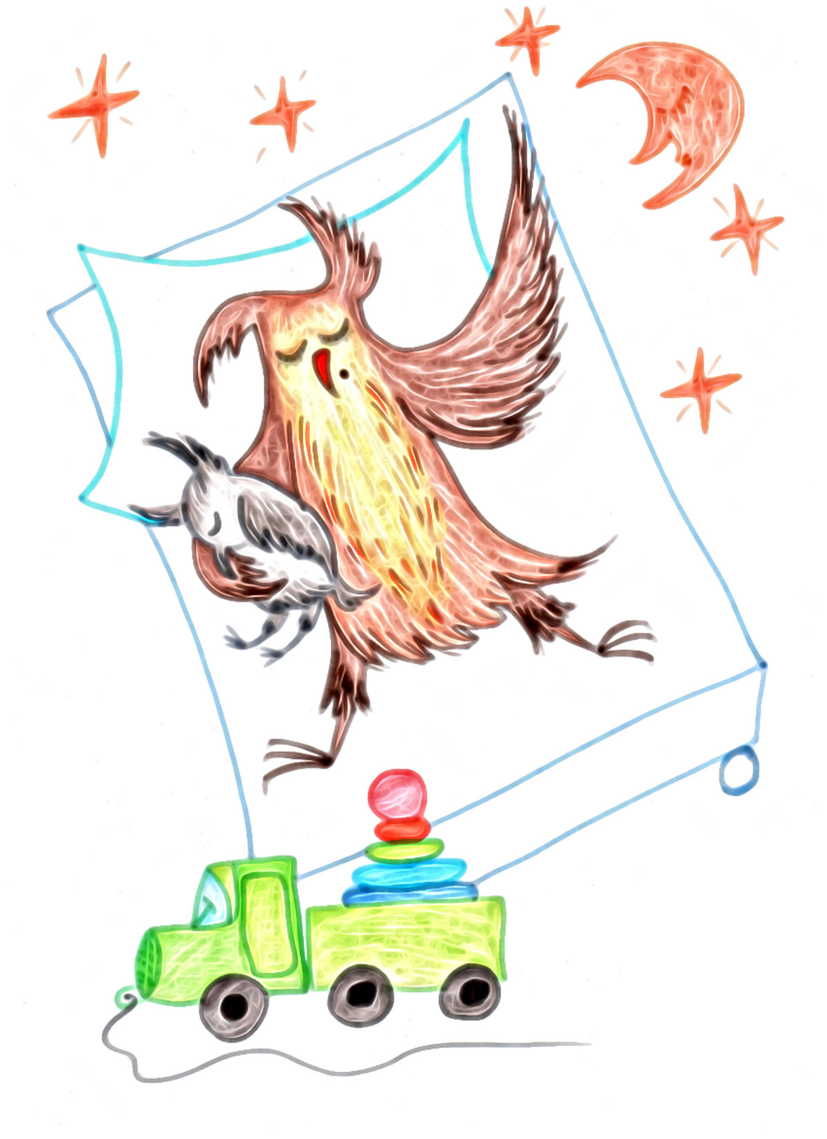 Красивые открытки бесплатно для вас, Beautiful postcards are free for you, p_i_r_a_n_y_a - Сова Ульяна. Сладкий сон