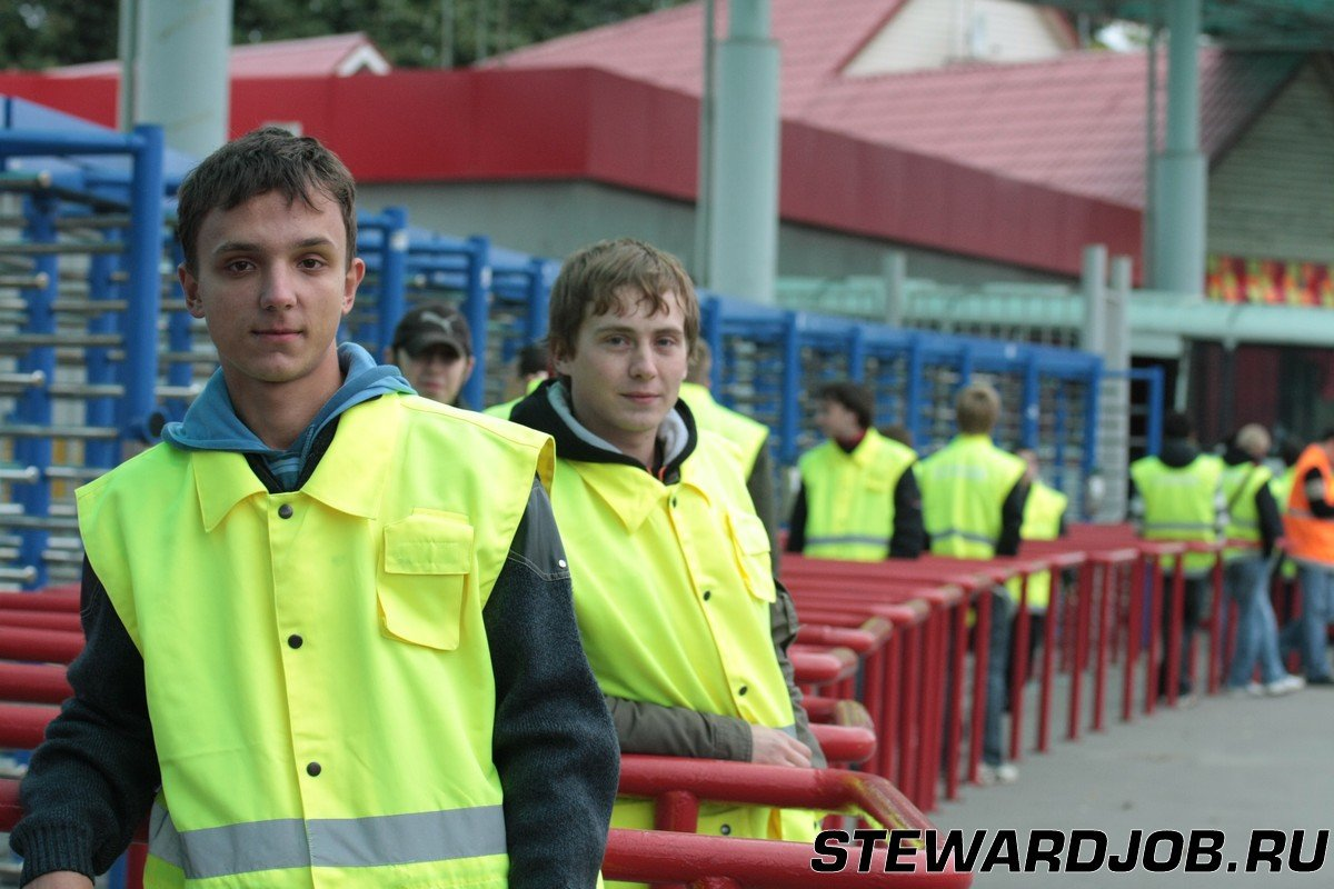 работа на стадионе Лужники