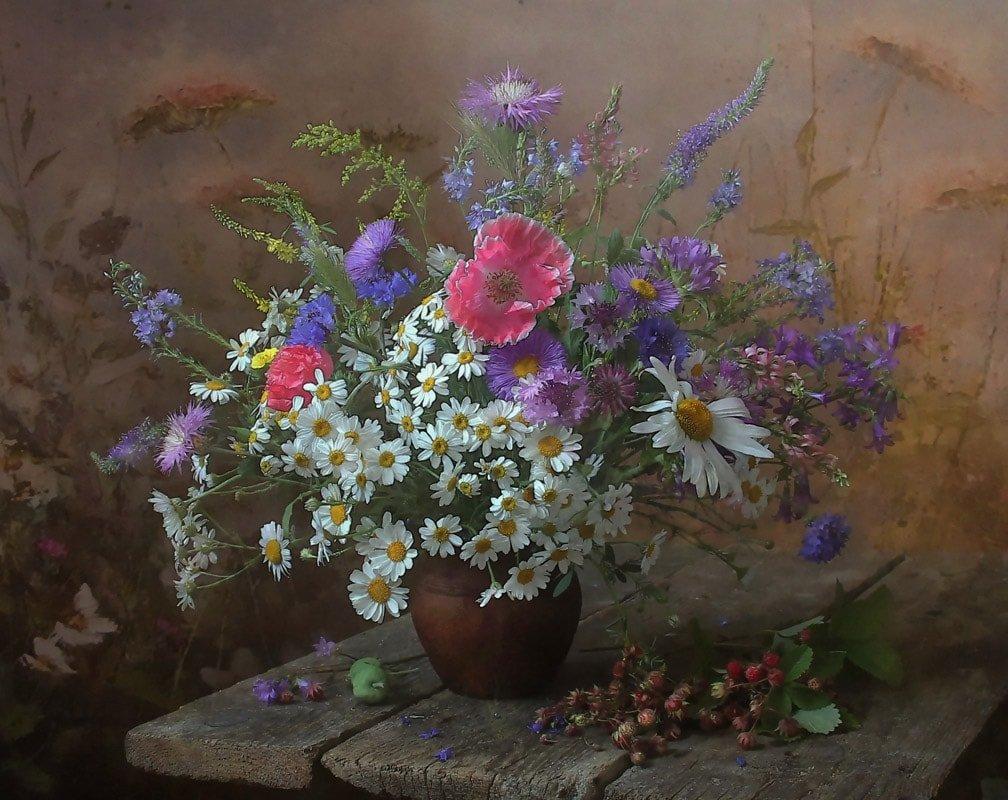 Полевые цветы букеты шедевры, воронеж недорого