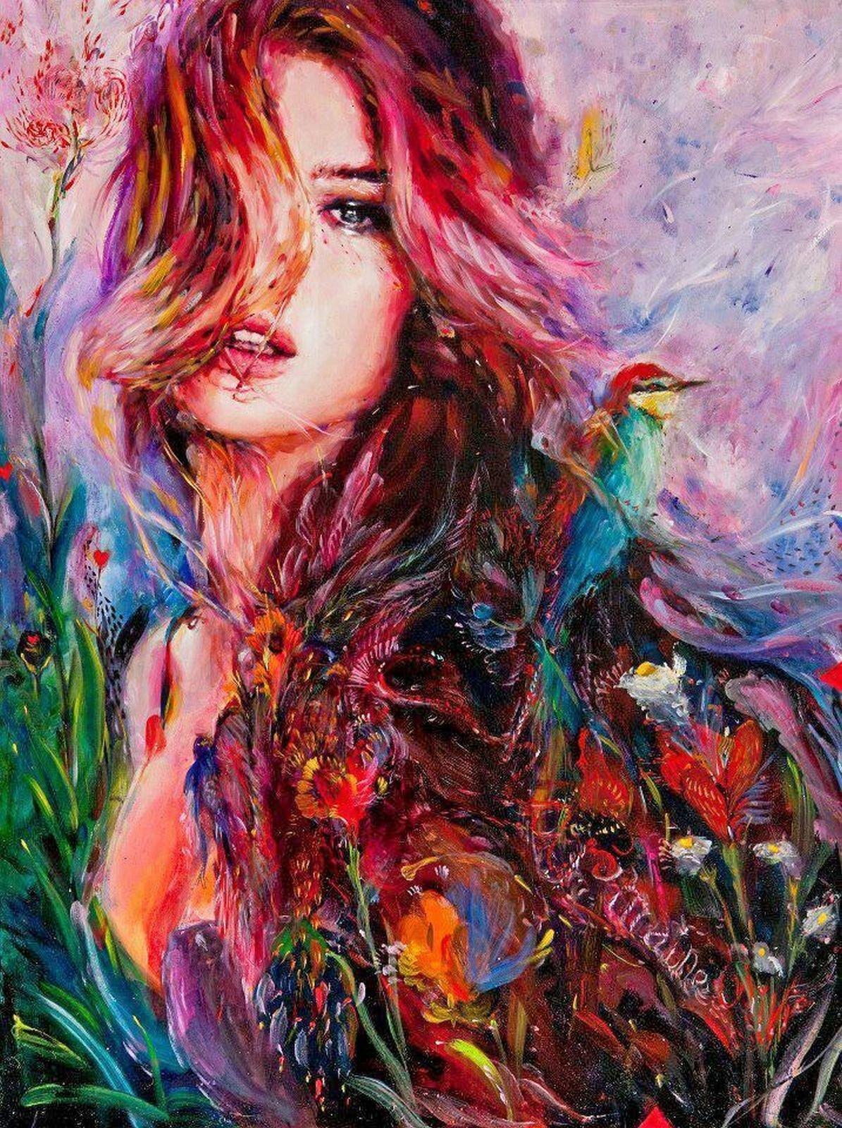 Картинки красивые с девушками нарисованные, новому