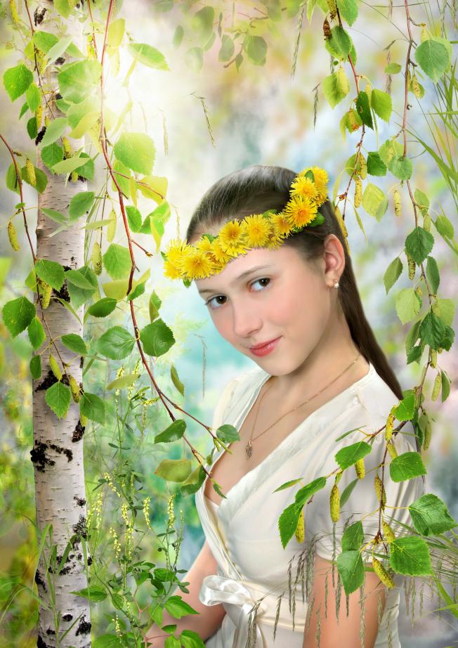 тянущее фотомонтаж весна природа предупреждают